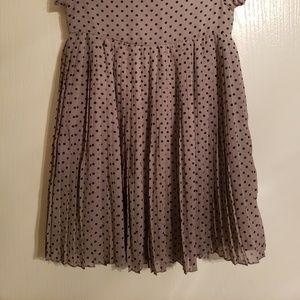 H&M Grey polka dot dress